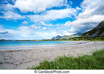 Beach Lofoten archipelago islands beach - Beach Lofoten...