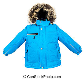 Warm jacket isolated - Winter warm jacket isolated on white...