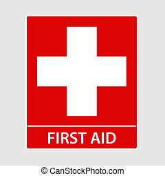 First Aid Sign - First Aid sign vector illustration