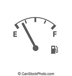 Gas Gauge Illustration