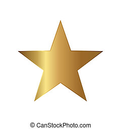 Gold Star Icon Illustration - Gold star icon illustration on...