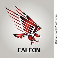 falcon. eaglle. hawk. falcon icon. - attacking Falcon icon...