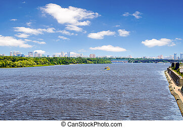 View of Kiev, Ukraine.Banks of the Dnieper river. - View of...