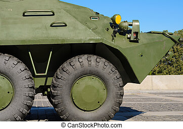 An old Soviet Armored troop-carrier.