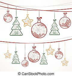 Christmas ornament decoration on white