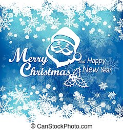 Mary Christmas poster on blue