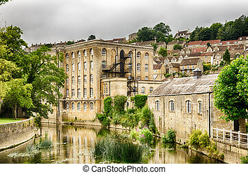 Old mill, Bradford on Avon, Wiltshire, England - Exterior of...