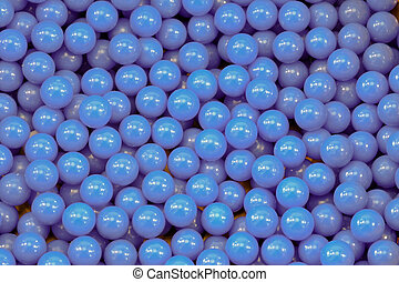 many blue balls used for an airgun