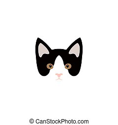 Simple cartoon kitty