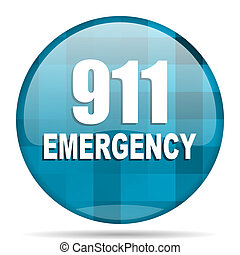 number emergency 911 blue round modern design internet icon...