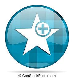star blue round modern design internet icon on white...
