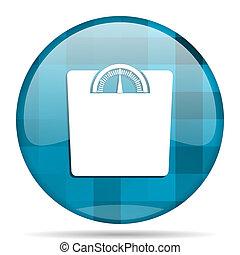 weight blue round modern design internet icon on white...