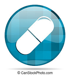 drugs blue round modern design internet icon on white...