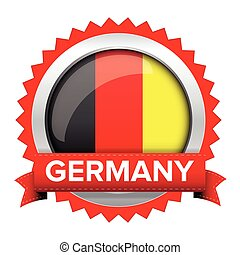 Germany badge with red ribbon vector