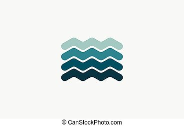Wave logo. Business Icon. Blue logo. Company logo. Ocean logo