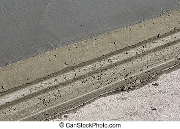 wet cement texture in building