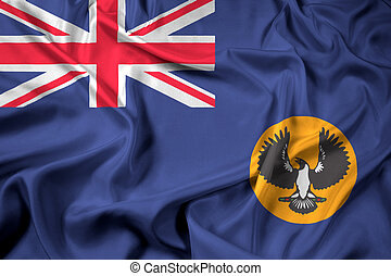 Waving Flag of South Australia State, Australia