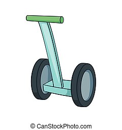 Segway icon, cartoon style - Segway icon. Cartoon...