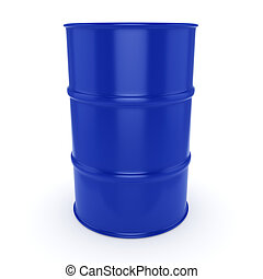 3D rendering blue barrel not contain any inscriptions