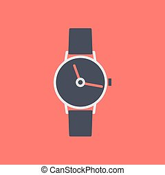 Icon wrist watch, vector illustration. - Stylish icon wrist...