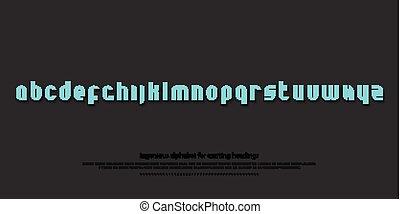 shiny blue - set of stylish alphabet letters isolated on...