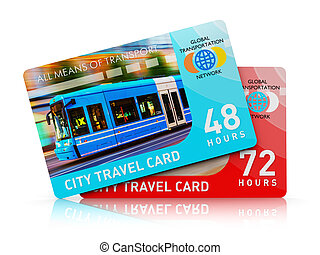 City transport travel ticket cards - Creative abstract...