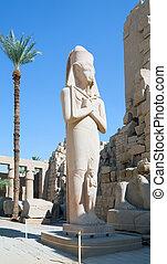 Statue of Ramses II in Karnak temple
