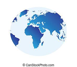 globus - nice illustration of world map - globus isolated...