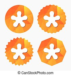 Asterisk footnote sign icon Star symbol - Asterisk round...