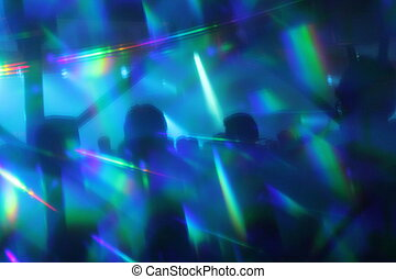 abstract lights nightclub dance party background lights and...