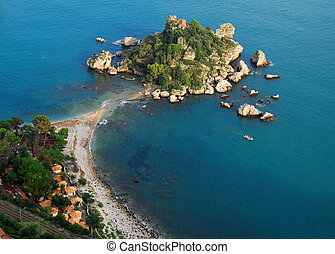 Isola Bella, Taormina, Sicily - Isola Bella is a small...