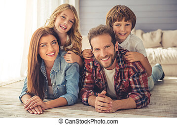 Happy family together