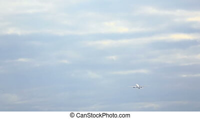 Airplane take off and climb - A plane taking off on a...