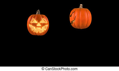 Bouncing pumpkins for Halloween - Jumping pumpkin for...