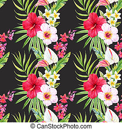Tropical watercolor pattern - Beautiful pattern with...