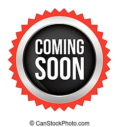 Coming Soon badge vector