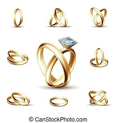 Wedding diamond ring vector illustration