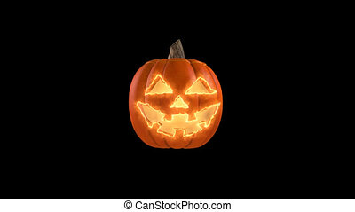 Wicked pumpkin for Halloween HD