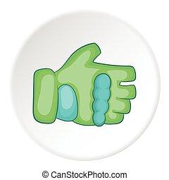 Glove icon, cartoon style - Glove icon. Cartoon illustration...