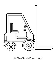 Electric loader icon, outline style - Electric loader icon...