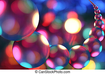 Fantastic universe - Row of multicolored spheres, looks like...