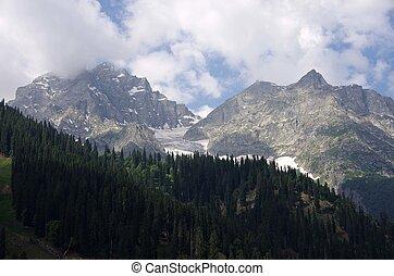 Landscape in Sonamarg in Kashmir - Beautiful landscape in...