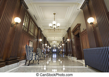 Courtroom Lobby in Historic Pioneer Courthouse Portland...