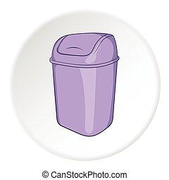 Toilet trash icon, cartoon style - Toilet trash icon Cartoon...