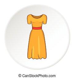 Women fancy dress icon, cartoon style - Women fancy dress...