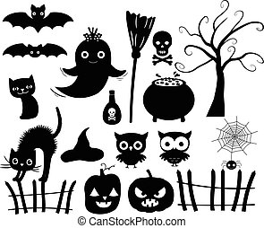 Halloween Silhouettes in Black
