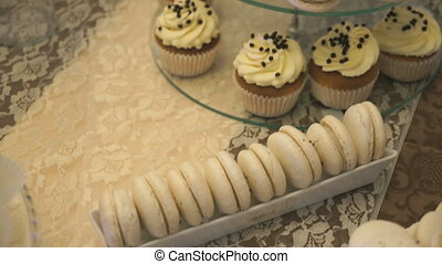 Sweet table with cookies for wedding celebration - Wedding....