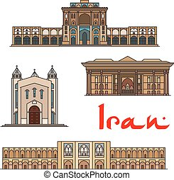 Iran famous architecture icons - Iran famous architecture...