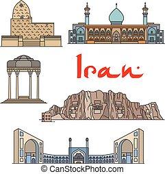 Iran architecture landmarks, sightseeings - Iran...