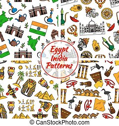 Egypt and India culture patterns - Egypt and India culture...